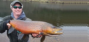 Michigan Fly Fishing Guides - Muskegon River Brown Trout - Trout Fly Fishing